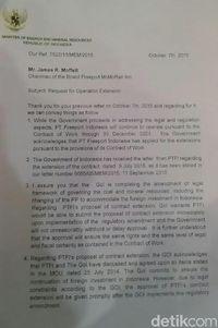 Ini Surat Sudirman Said untuk Bos Freeport yang Diminta Jokowi