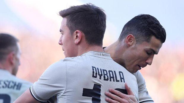 Kehadiran Cristiano Ronaldo jadi salah satu penyebab menurunnya performa Paulo Dybala.