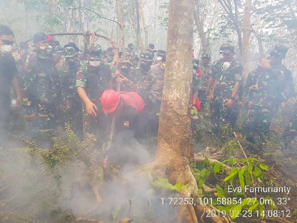 10 Instruksi Panglima TNI Padamkan Lahan Terbakar di Pulau Rupat
