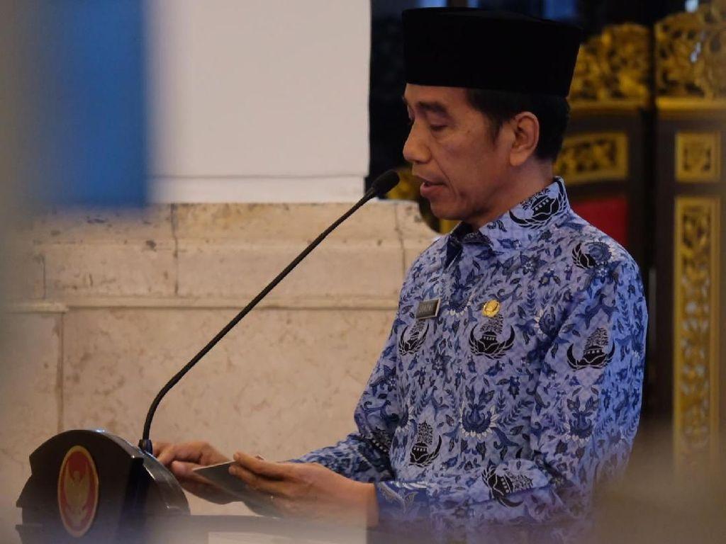 Jokowi Minta Korpri Awasi Dana Desa Sampai Jadi Barang