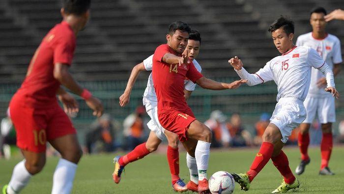 Timnas Indonesia U-22 sedang berlaga di Piala AFF U-22 2019. (Foto: Nyoman Budhiana/AntaraFoto)
