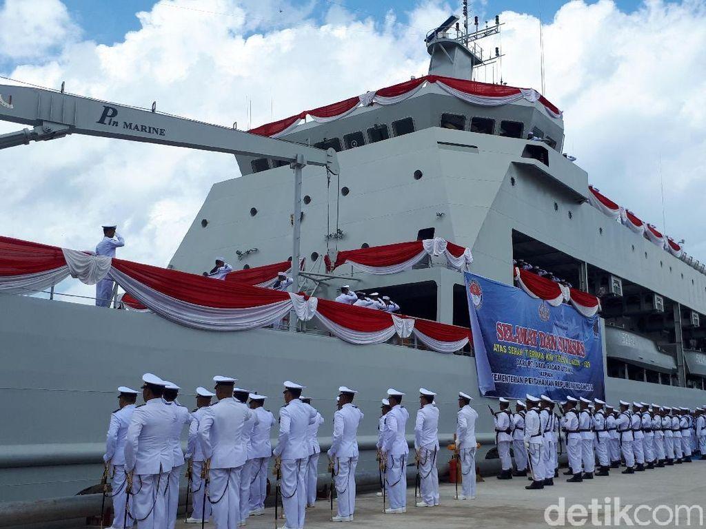 Video: Kapal Pengangkut Tank Karya Anak Bangsa Resmi Perkuat TNI AL