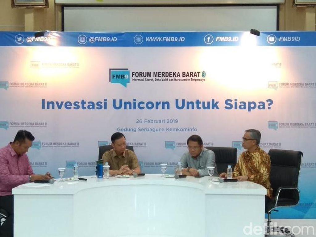 Modal Asing Masuk ke Unicorn RI Capai Rp 35 T/ Tahun