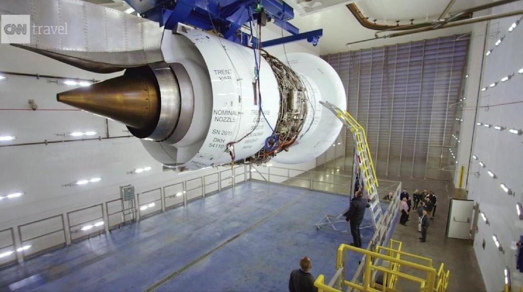 Potret Ruang Uji Mesin Jet Terbesar Sedunia