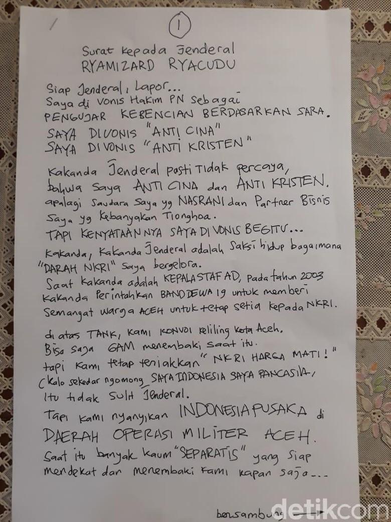 Ini Isi Lengkap Surat Ahmad Dhani untuk Menhan