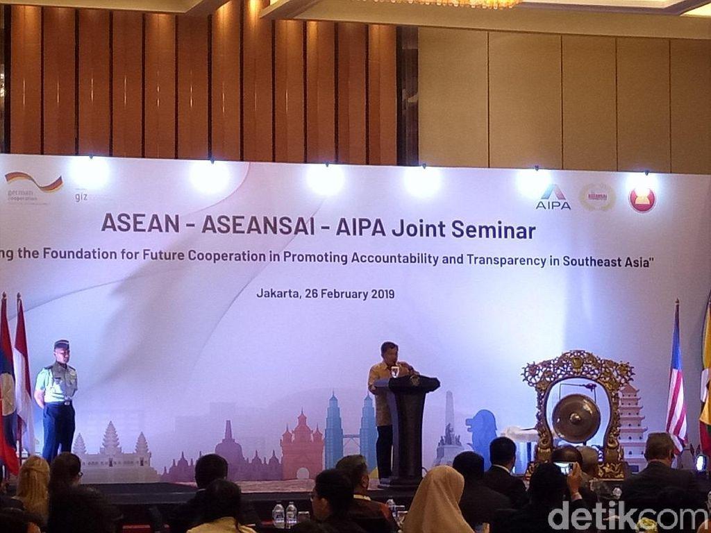 Buka Seminar Auditor Se-ASEAN, JK Bicara Pentingnya Kerja Sama soal Transparansi