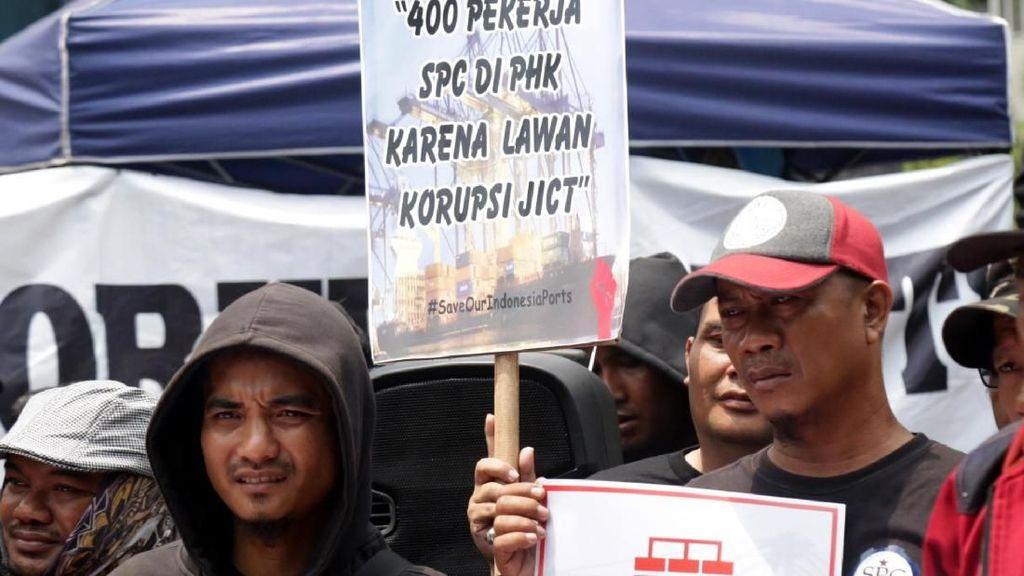 Pekerja Pelabuhan Kembali Gelar Aksi di Kementrian BUMN