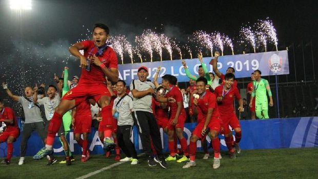 Thailand kalah 1-2 dari Indonesia di final Piala AFF U-22 2019.