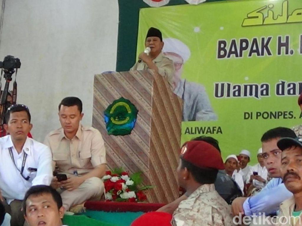 Di Sumenep, Prabowo Mengaku Sejak Dulu Dekat dengan Ulama Madura