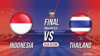 Live Report Final Piala AFF U-22: FT Indonesia 2-1 Thailand
