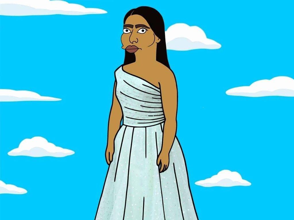 Usai Tampil di Oscar, Yalitza Aparicio Diubah Seperti The Simpsons