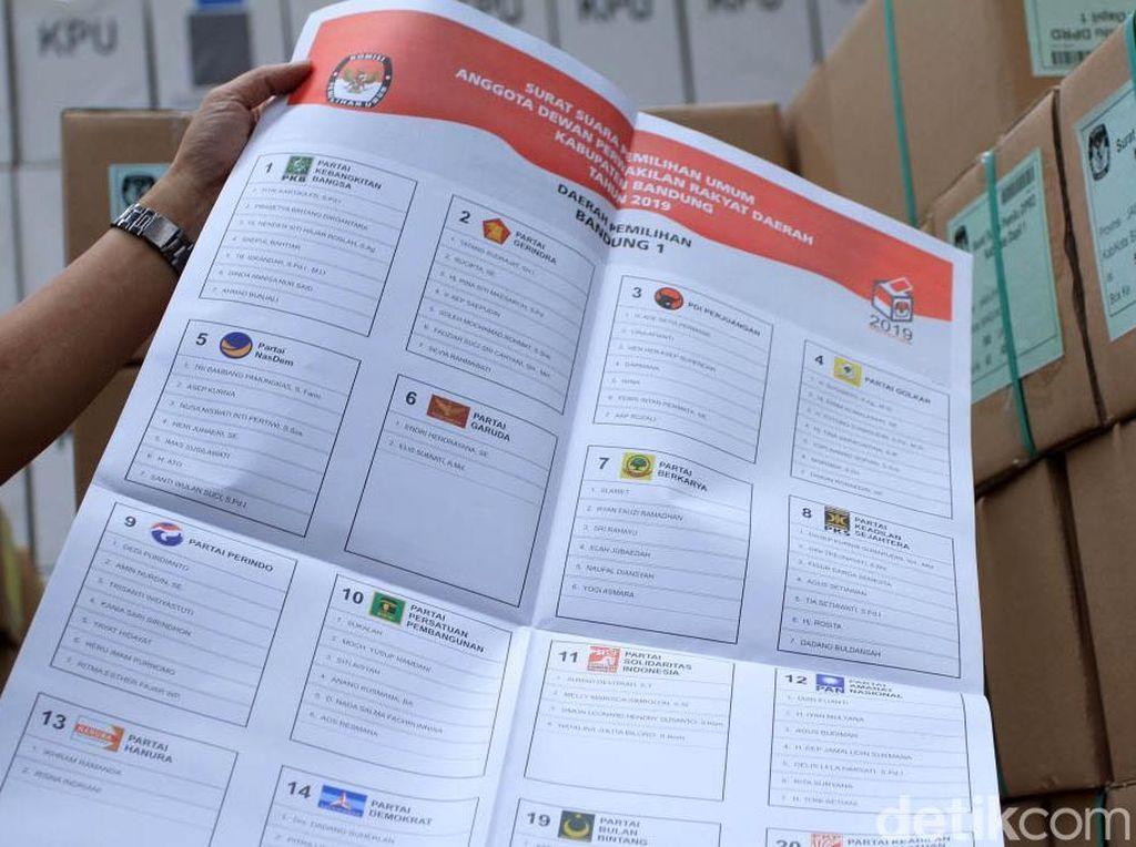 KPU Kabupaten Bandung Cek Surat Suara Pemilu 2019