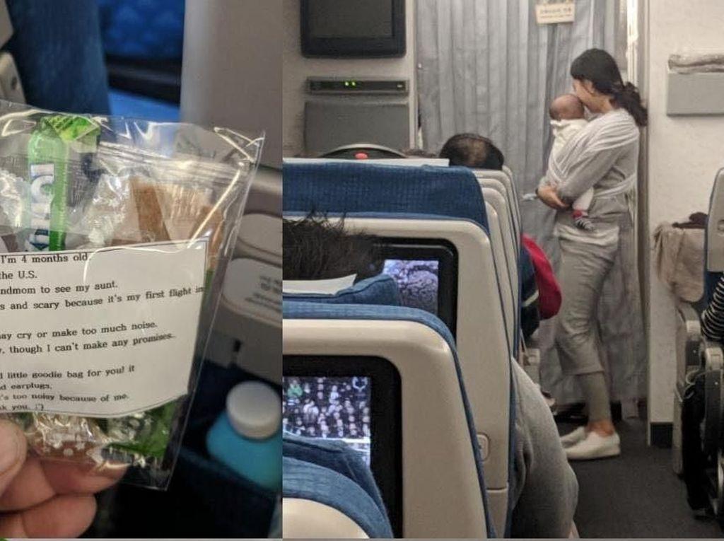 Khawatir Bayinya Rewel di Pesawat, Ibu Ini Beri Permen pada Penumpang Lain