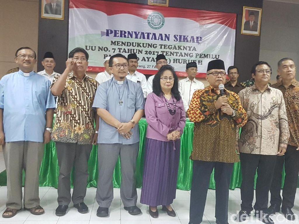 Tokoh Lintas Agama Se-Banten Larang Tempat Ibadah untuk Kampanye