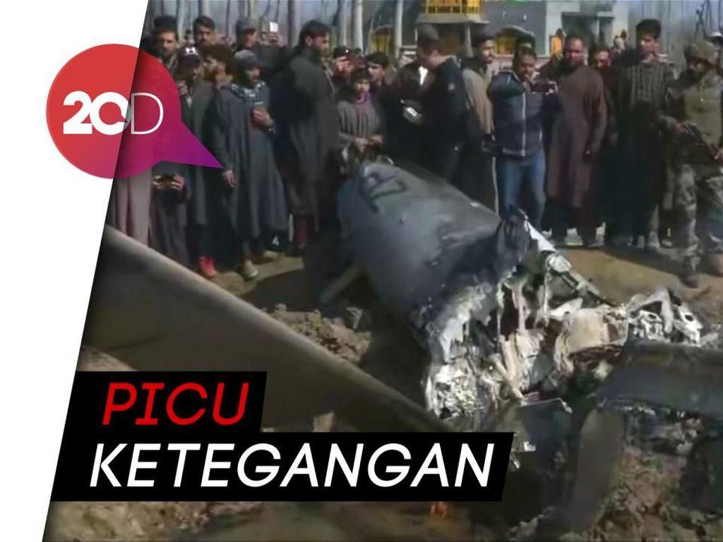 Penampakan Pesawat India yang Ditembak Jatuh Pakistan
