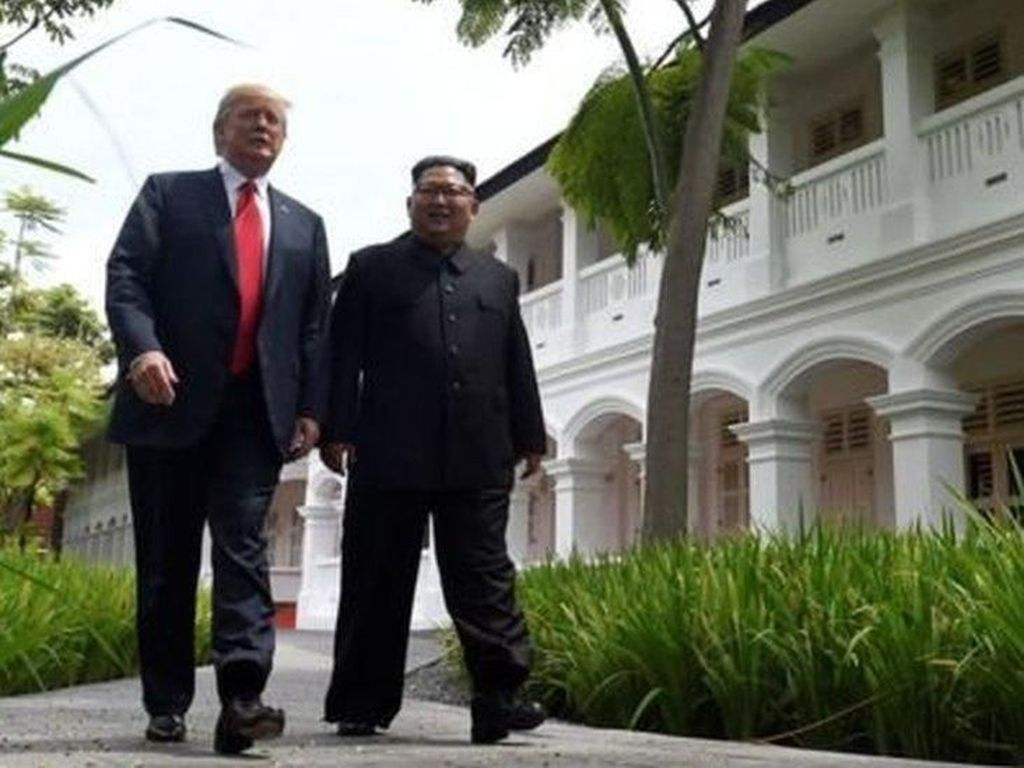 Bertemu Kim Jong-Un, Akankah Trump Umumkan Akhiri Perang Korea?