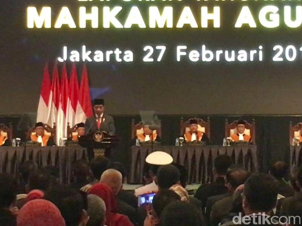 Jokowi Sanjung e-Court Punya MA yang Kekinian