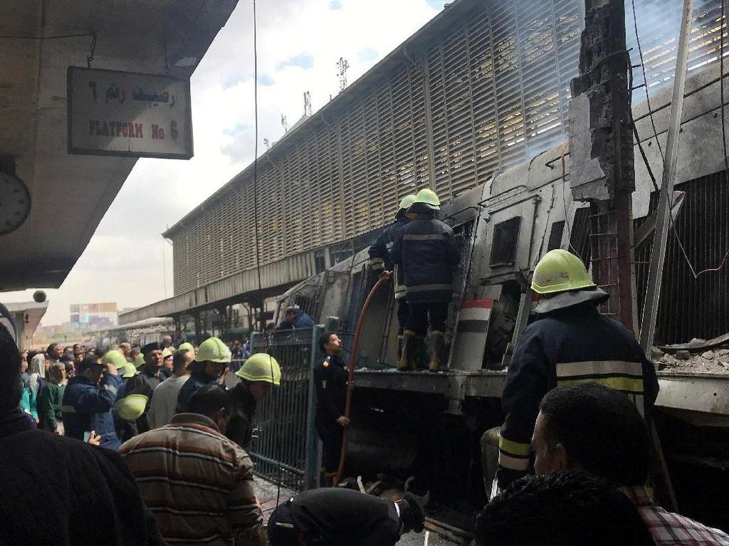Kecelakaan Kereta di Mesir Tewaskan 25 Orang