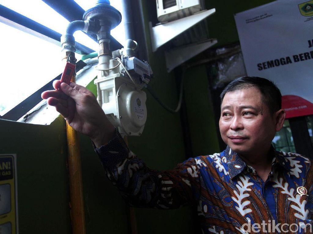 Jonan Resmikan Jaringan Gas Bumi di Bogor
