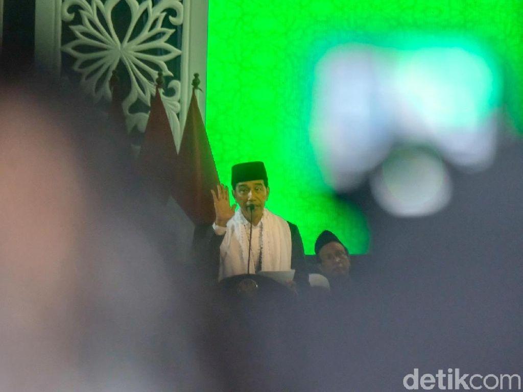 Jokowi Bicara KIP Kuliah di Munas Alim Ulama NU