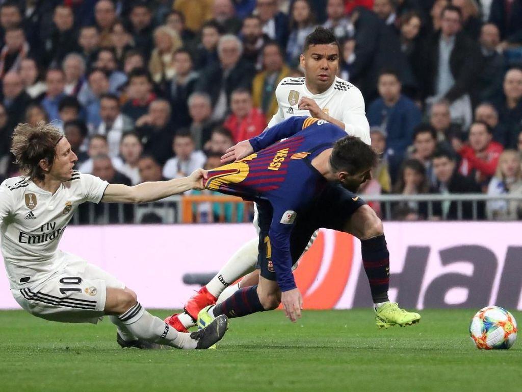 Barca Menang Besar, tapi Messi Mati Kutu di Hadapan Madrid