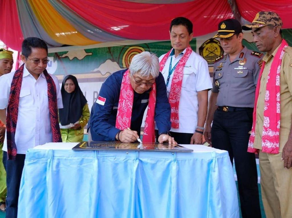 Dirjen Minerba Resmikan Fasilitas Olahraga Milik Antam di Halmahera