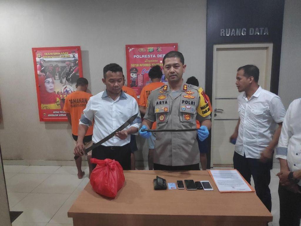 Bacok Pemuda di Depok, 4 Debt Collector Ditangkap Polisi
