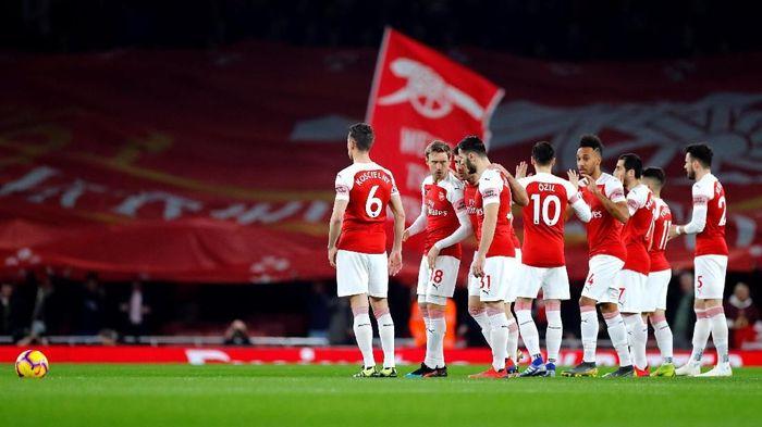 Arsenal akan menjamu Rennes di leg kedua 16 besar Liga Champions. (Foto: Eddie Keogh/Reuters)