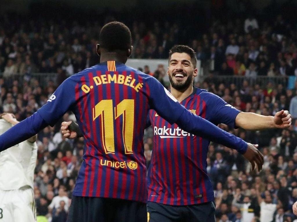 Olok-olok Fans Barcelona di Santiago Bernabeu: Ronaldo Mana?