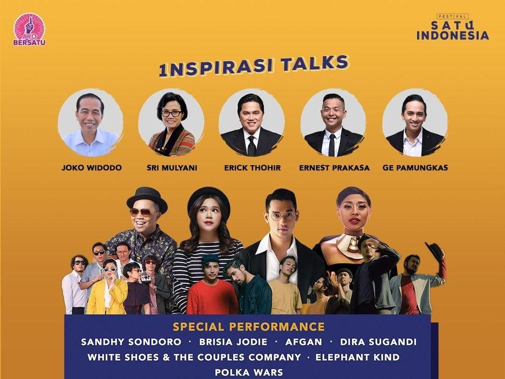Bareng Afgan Hingga Elephant Kind, Jokowi Gabung di Festival Satu Indonesia