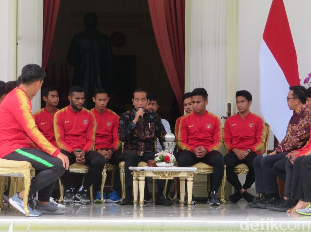 Jokowi Tambah Bonus Skuat Timnas U-22 Sebesar Rp 200 Juta