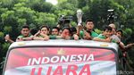Juara Piala AFF, Timnas Indonesia U-22 Diarak ke Istana