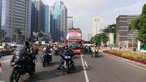 Polisi Kawal Konvoi Kemenangan Timnas U-22 ke Istana Negara