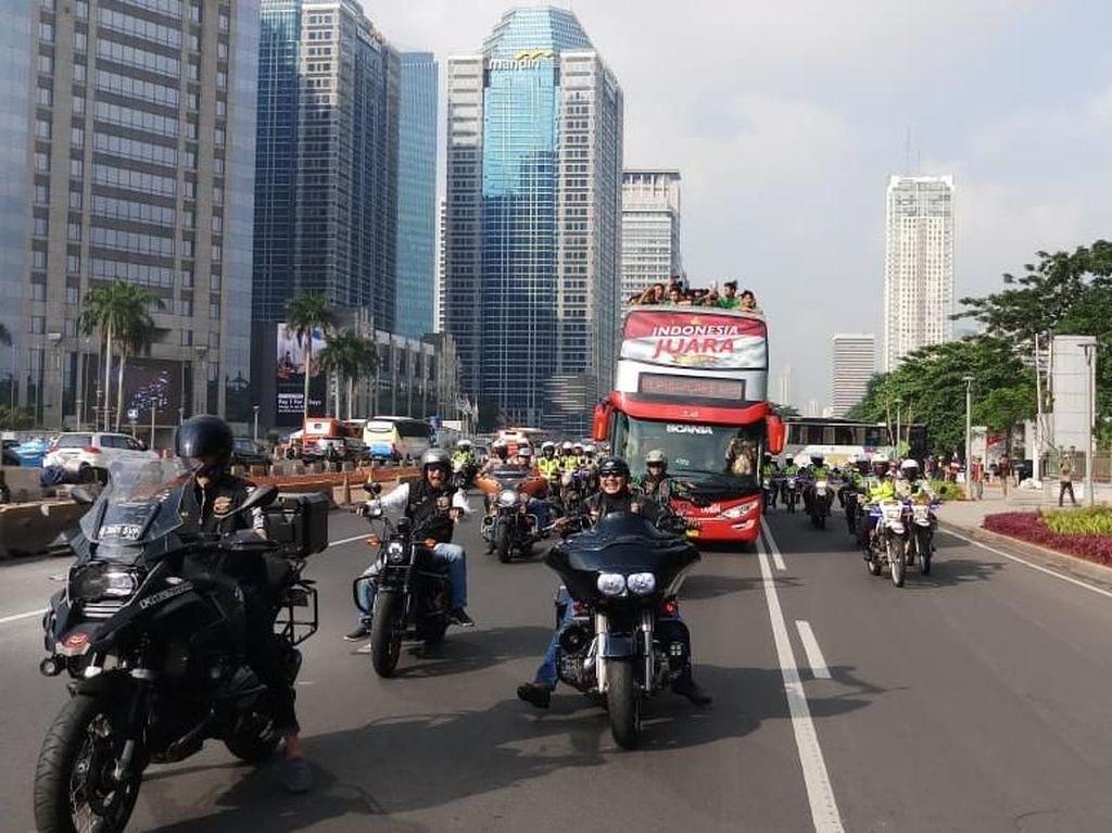 Ada Konvoi Kemenangan Timnas U-22, Sejumlah Ruas Jalan Ditutup Sementara
