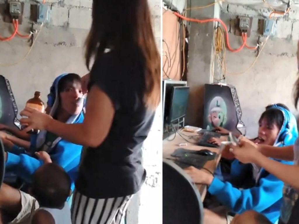 Usai Beri Makan, Ibu Ini Suapi Vitamin ke Anaknya yang Kecanduan Main Game