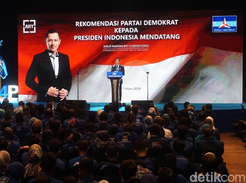 AHY Hanya Sebut Presiden Mendatang, BPN: PD Dukung Total Prabowo-Sandi