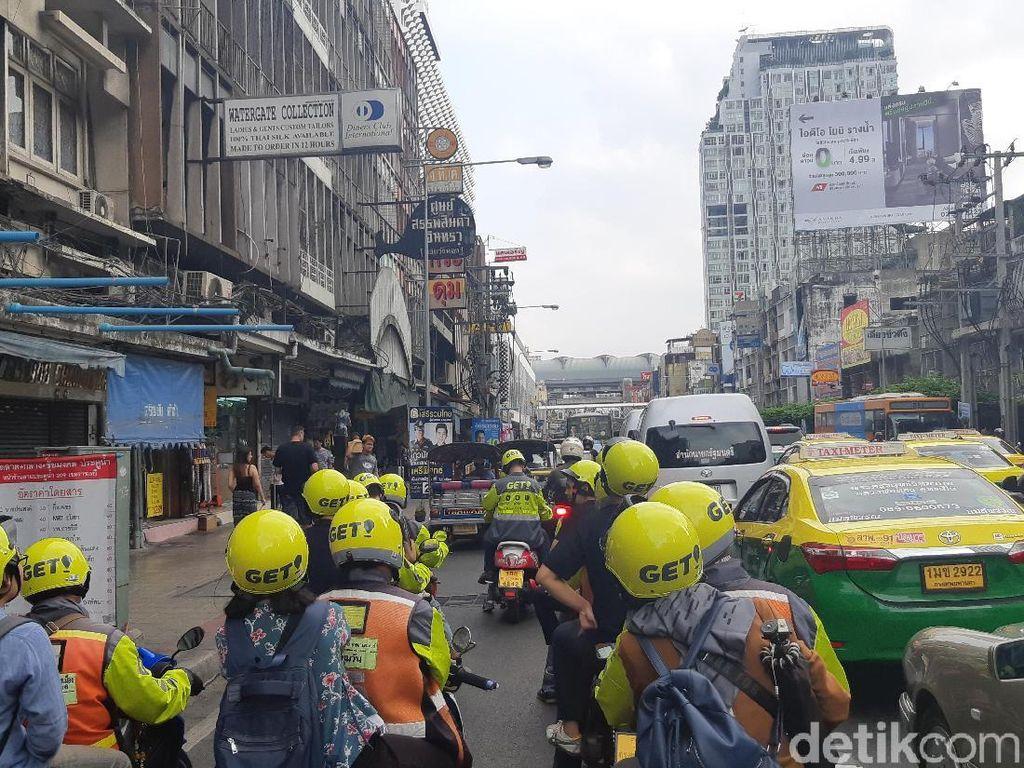 Menjajal Layanan Go-Jek Thailand Keliling Kota Bangkok