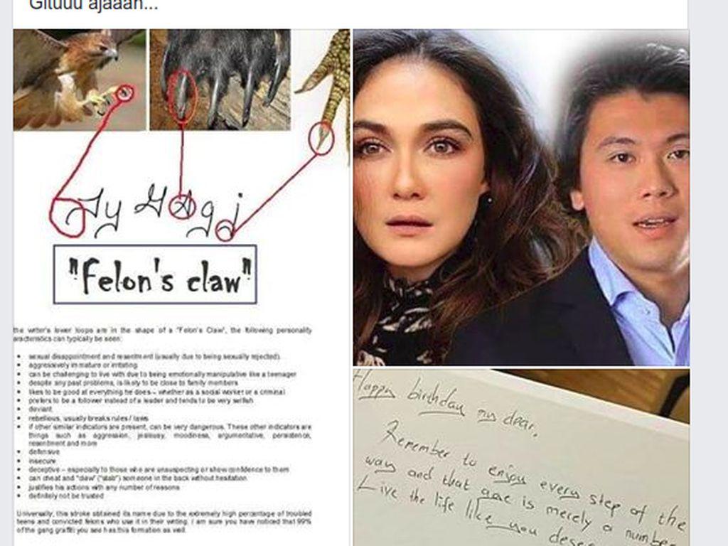 Viral! Grafolog Komentari Tulisan Tangan Reino Barack: Luna Maya Beruntung