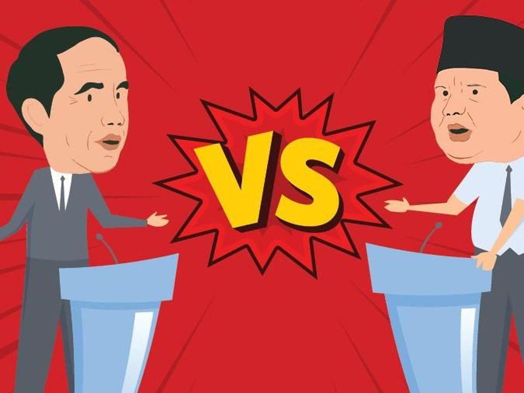 Survei SMRC: Jokowi Unggul 19,8% Dibanding Prabowo Jelang Pencoblosan