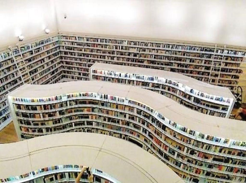 Potret Perpustakaan Keren di Singapura