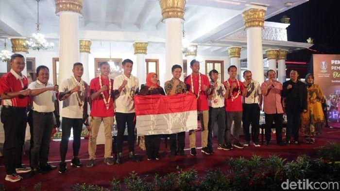 4 pemain Timnas Indonesia U-22 dapat tambahan bonus dari Gubernur Jatim (Hilda Meilisa Rinanda/detikSport)