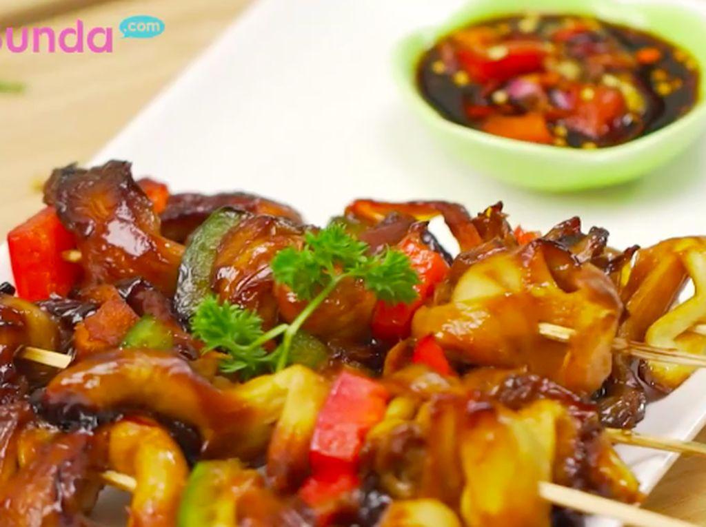 Resep Sate Jamur Bumbu Kecap, Pedas Manisnya Nampol di Lidah