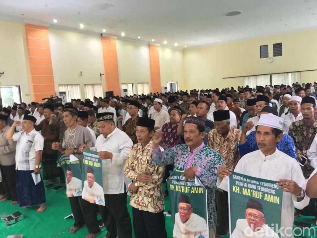 Gus dan Santri Kampung di Jombang Deklarasi Dukung Jokowi-Maruf Amin