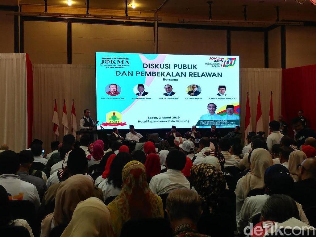 Ridwan Kamil Ajak Relawan Jokowi Kampanye Fastabiqul Khairat