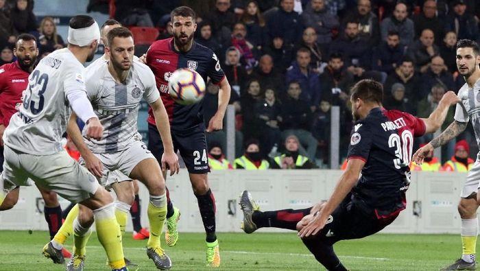 Inter Milan tumbang di markas Cagliari (Fabio Murru/ANSA via AP)