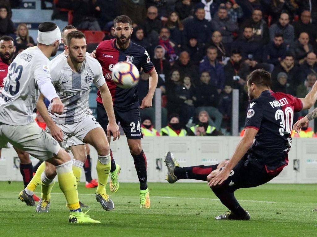 Hasil Liga Italia: Inter Milan Terjungkal di Markas Cagliari