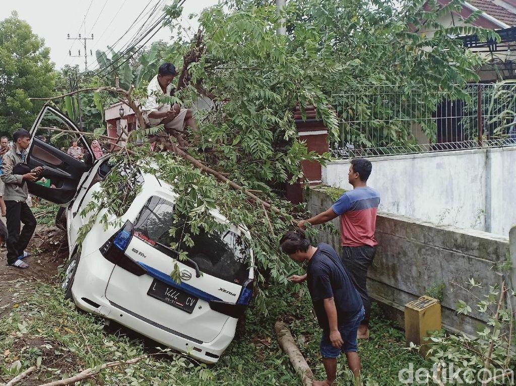Ini Penampakan MPV yang Ringsek Hantam Pohon di Magetan