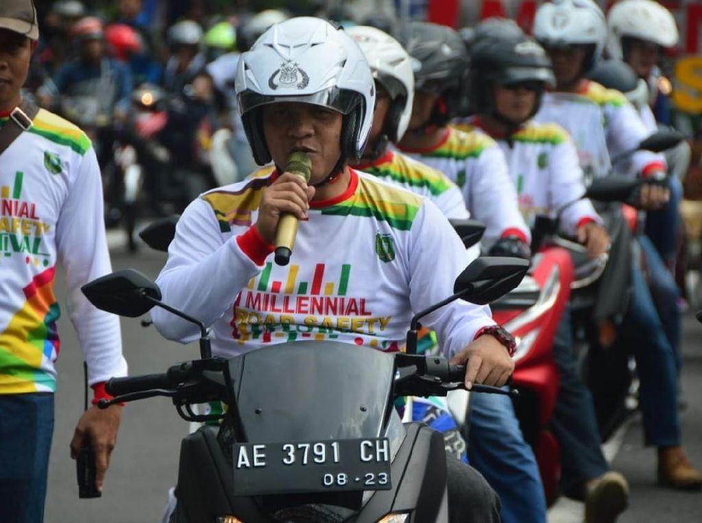 Senam Kolosal, Cara Polisi Madiun Kota Sosialisasikan MRSF