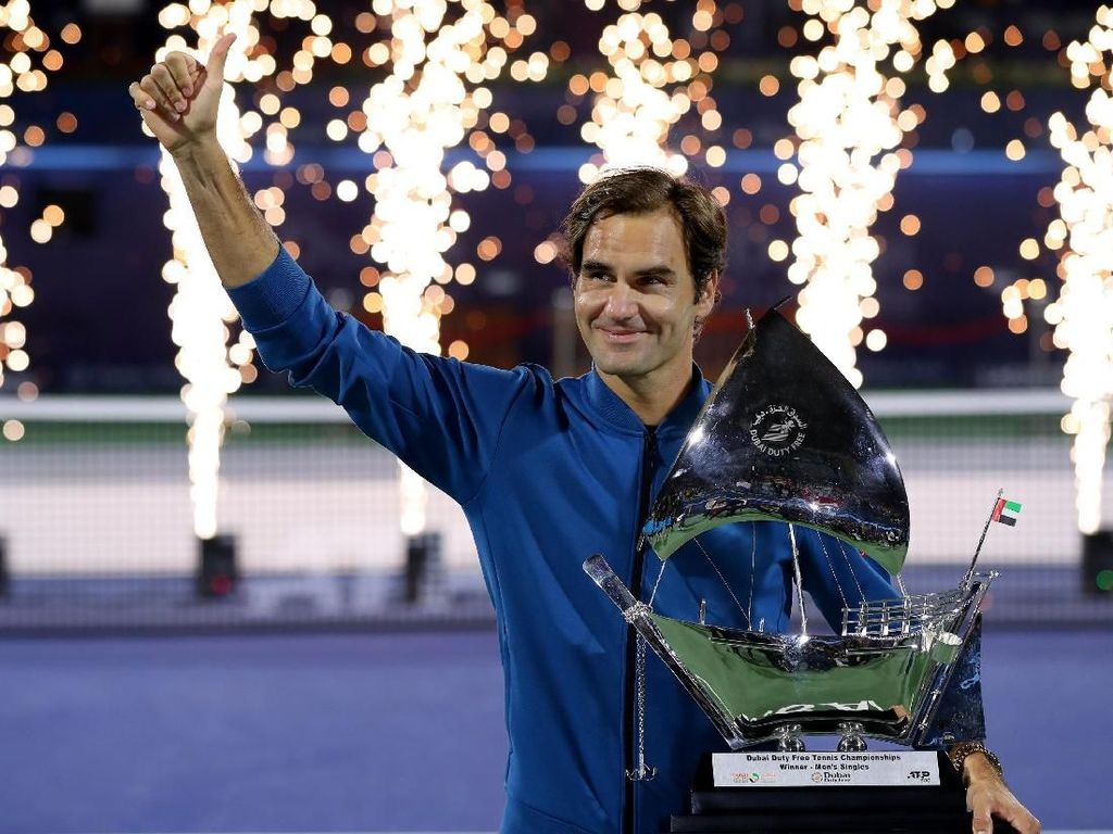 Salut, Federer Sudah Menangi 100 Gelar ATP
