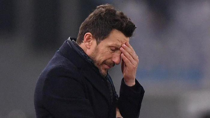 Eusebio Di Francesco dipecat AS Roma pada Maret lalu. (Foto: Alberto Lingria/Reuters)
